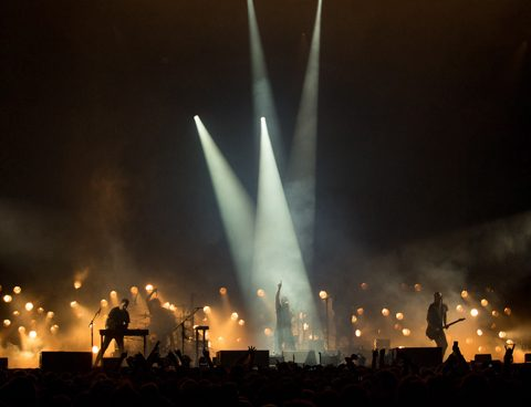 spectaculaire lichtshow van Nine Inch Nails